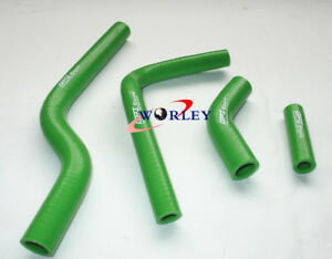 GREEN KAWASAKI KX250 KX 250 2004 2005 2006 2007 05 06 07 silicone radiator hose