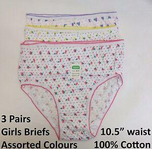 4 PAIA Ragazze Boxer Slip Slip 100/% Cotone Pantaloni Biancheria Intima Per Bambini