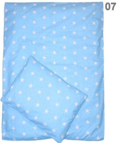 VIELE DESIGNS!! Bezug für Kinderwagenset Baby Bettwäsche für Kinderwagen 2 tlg