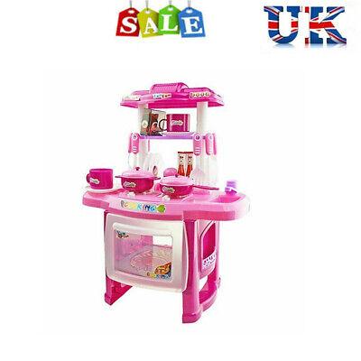 Children Kids Kitchen Cooking Cooker Role Pretend Toys Play Set Kids Gifts Uk Spielkuchen