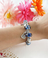 Cat Lovers Charm Bracelet, Charm Starter Bracelet, Collectible Charms Bracelet,