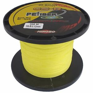 GSR-PEFIBER-BRAID-FISHING-LINE-10LB-300M-YELLOW-MADE-FROM-100-UHMWPE-DYNEESI
