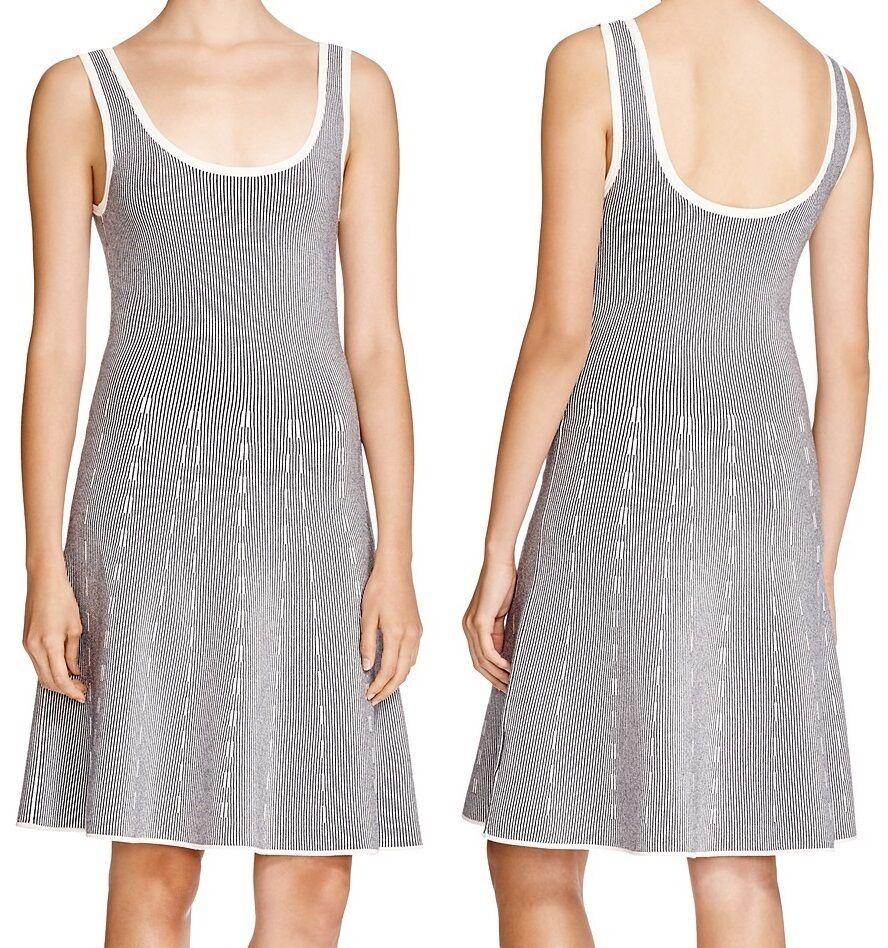 Nuevo Con Etiquetas  385 teoría codris  vestido sin mangas Knit Fit Flare  nuevo listado