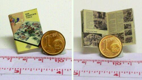 1324# Der gedeckte Tisch -Miniaturbuch Puppenhaus Puppenstube M1:12