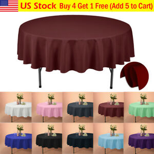 VEEYOO-90-034-Round-Tablecloth-Linen-Table-Cover-for-Weddings-Party-Holiday-Dinner