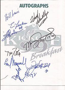 MIAMI-DOLPHINS-1999-KICKOFF-BREAKFAST-PROGRAM-7-23-99-9-AUTOGRAPHS-Earl-Morrall