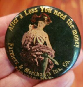 Vintage Lincoln Nebraska After A Loss . . . Farmers Pocket Advertising Mirror