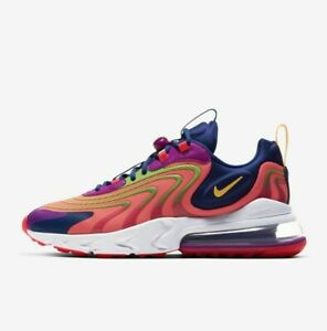 Nike Air Max 270 React ENG CD0113-600 Crimson White Purple Men's Running Shoes