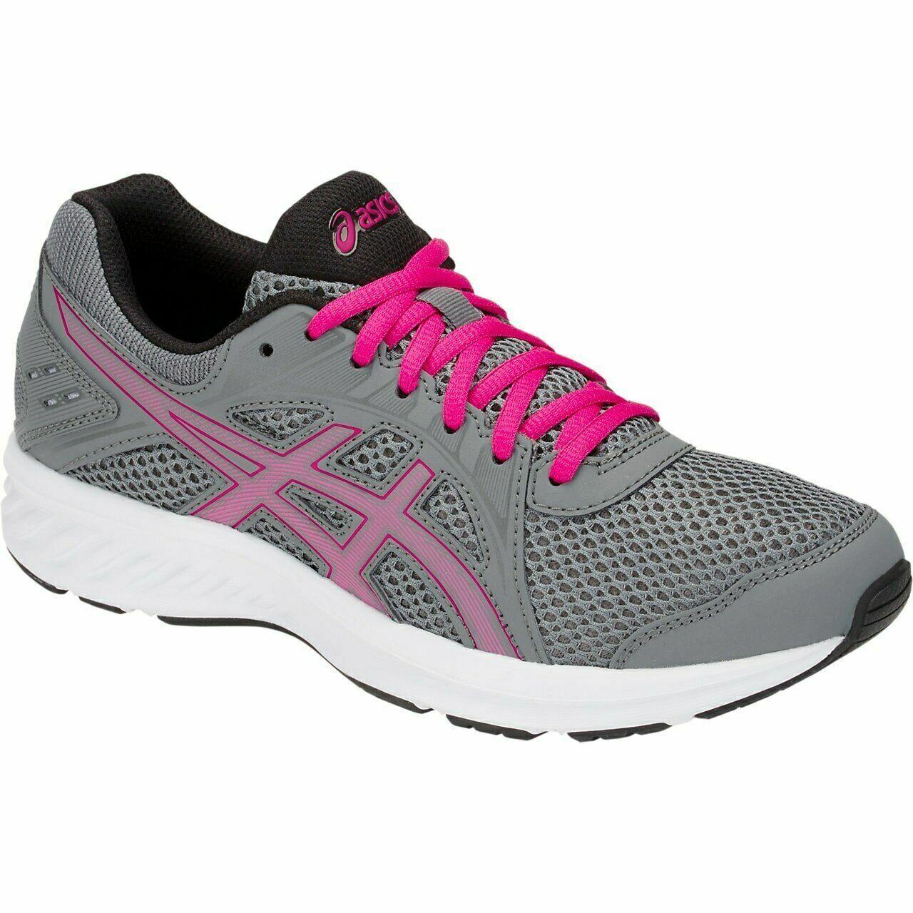 ASICS WOMEN'S Jolt 2 Chaussures de course. Couleur-Acier Gris/Rose Rave. choisir la taille.