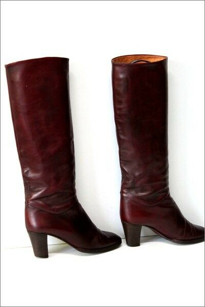 BUTTAZZONI Boots Vintage All Leather bordeaux T 36 BE