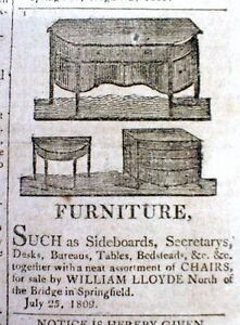 Image Is Loading 1809 Newspaper W Detailed ILLUSTRATED AD For FEDERALIST