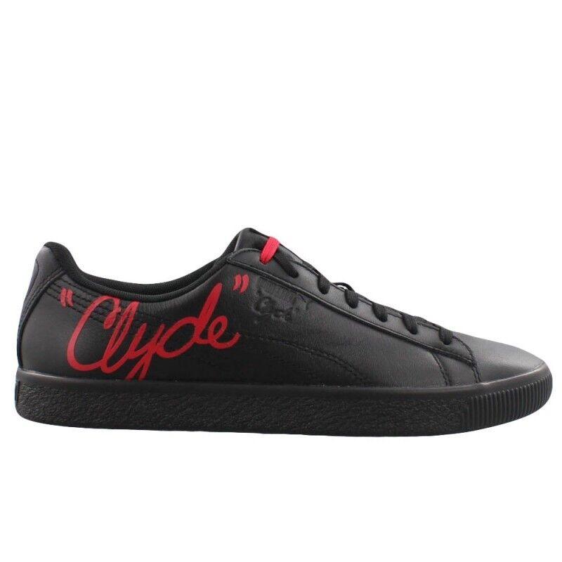 Men's PUMA Clyde Signature   color  Puma Black Toreador   Size  12
