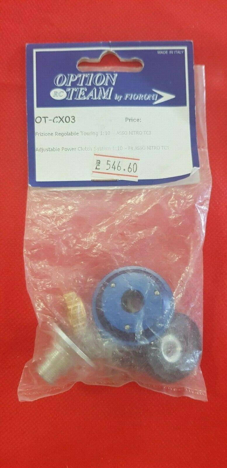 Fioroni Adjustable energia Clutch  system 1 10 nitro on strada Associated TC3-OT-CX03  vendite dirette della fabbrica
