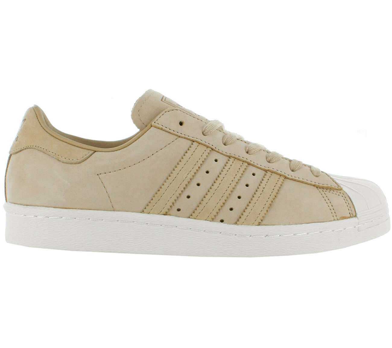 ADIDAS ORIGINALS SUPERSTAR 80s Shoes Beige Leather Trainers Men's Women's BY2507