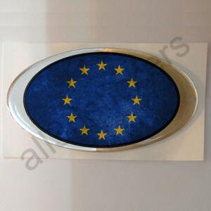Pegatina-Europa-Ovalada-Pegatinas-Bandera-Vieja-Adhesivo-3D-Resina-Relieve