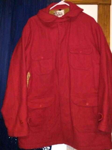 Vintage Woolrich Woolen Mill Mackinaw Wool Hunting Coat Jacket Shirt Men's 48