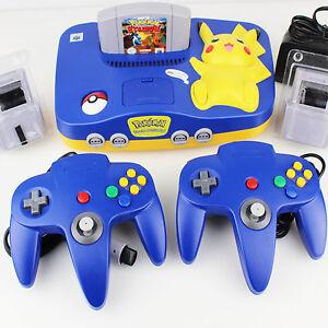 Original-Nintendo-N64-Konsole-Edition-Pokemon-Stadium-2-Controller-A16