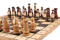 Amazing ''magnat Wooden Chess Set 55cm X 55cm. Amazing Hand Crafted Pieces