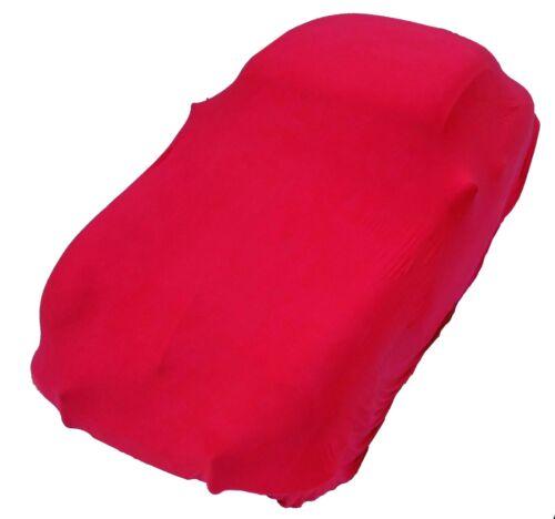 Auto-abdeck-Plane elastisch Abdeckung soft hochwertig rot Größe L bis 5,10 Meter