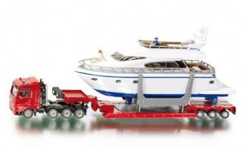 Siku Super 1849 1 87 Heavy Haulage Transporter with Drettmann Yacht Model