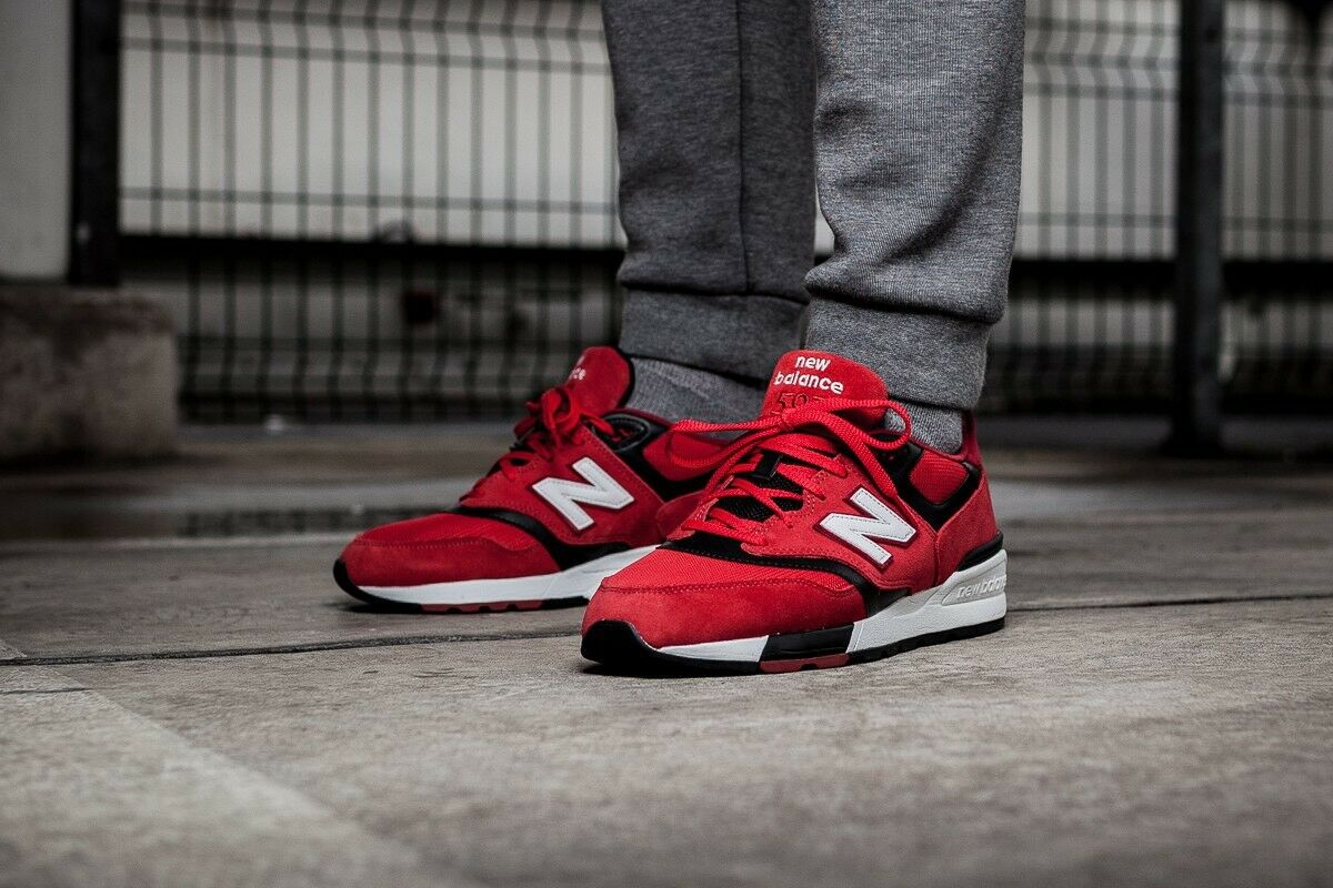 NEW BALANCE 597 ML597 MEN'S RUNNING SHOES CLASSICS LIFESTYLE SNEAKER RED RED