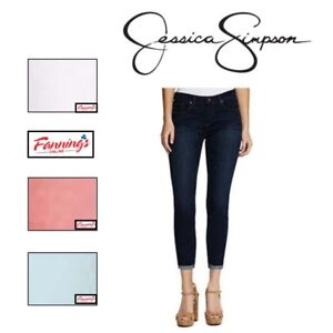 NEW-Women-039-s-JESSICA-SIMPSON-ROLLED-CROP-SKINNY-Jean-STRETCH-SOFT-SCULP-VARIETY