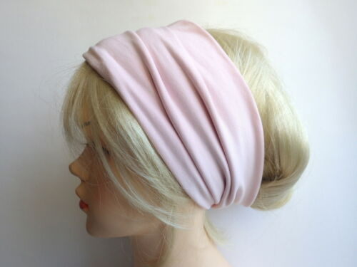 Bandeau Fleurs Rose Bleu Clair haarbänder Extra Large Casque Tube