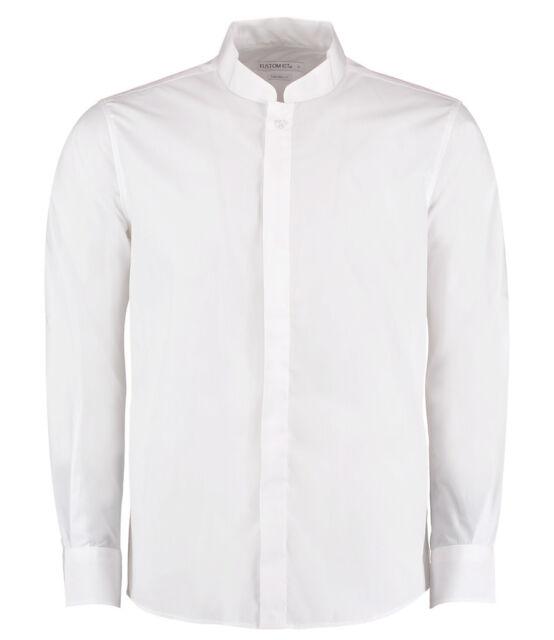 37eef83d3292 Kustom Kit Long Sleeve Mandarin Collar Shirt Fitted Ladies Womens ...