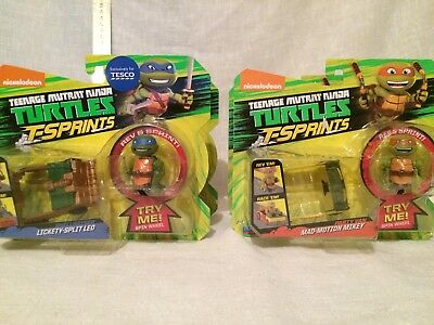 2 x Teenage Mutant Ninja Turtle T-sprints Cars Brand New Free UK Postage
