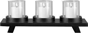 Kerzenhalter mit 3 Kerzen - Kerzenständer Deko Kerzenleuchter Teelichthalter