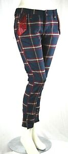 Pantaloni-Donna-METMade-in-Italy-Loose-Fit-Misto-Lana-Affusolato-C315-Blu-Tg-27