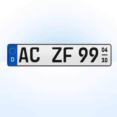 Saison 1 Stück KFZ Nummernschild Nummerntafel Kennzeichen