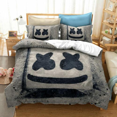 DJ Marshmello Music Producer 3D Bedding Set  Quilt Duvet Cover Pillowcase UK