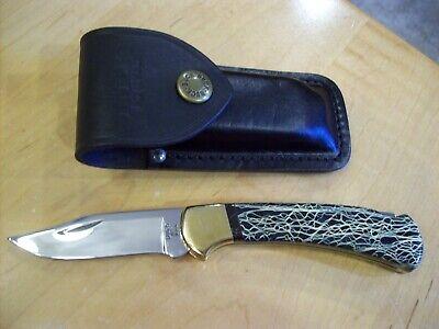 CUSTOM BUCK KNIFE 112 By Leroy Remer 2008 ~ Mirror Polished Blade