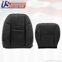2007 - 2012 Gmc Yukon Driver Bottom & Top Lean Back Leather Seat Covers Black