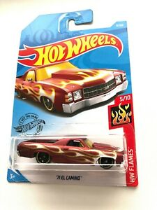 Hot-Wheels-71-El-CAMINO-Red-8-250-HW-Flames-5-10-Mattel-Diecast-FYF16