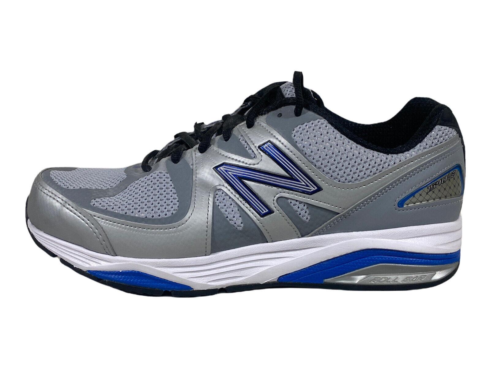 New Balance 1540v2 Blue Gray Running Training Shoes USA Men's Size 8 6E READ