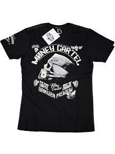 Yakuza-Premium-T-Shirt-YPS-2508-Money-Cartel-Schwarz-Skull-Totenkopf-5067