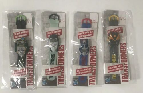 Complete Set of Four Official Hasbro Transformers Watches Premium Toys