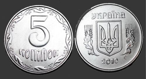 2010 Ukraine 5 Kopiyok Coin BU Very Nice  KM# 7