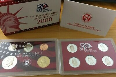 SILVER Proof Set Mint Made in Red Mint Box with COA U.S 2002-s U.S