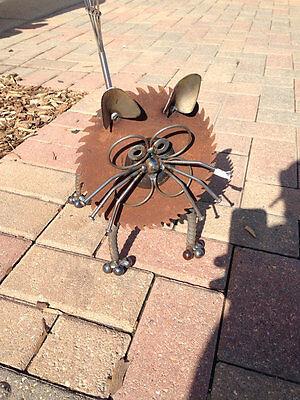 Cat - Recycled Garden Yard Art Sculpture