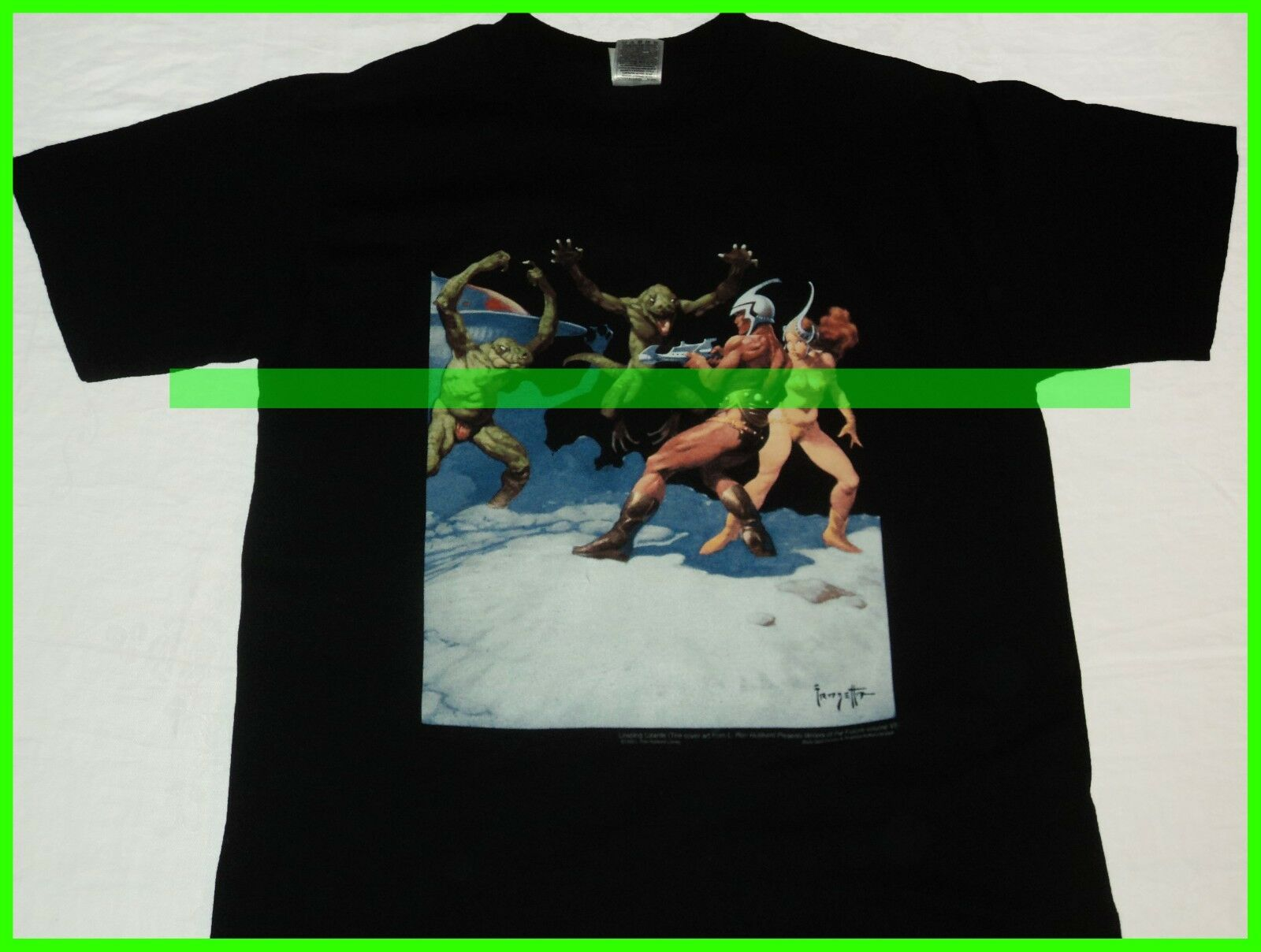 L  RARE Original Frazetta vtg 1989 shirt Vintage fantasy comics