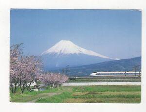 Hikari-amp-Mount-Fuji-Japan-Postcard-436a