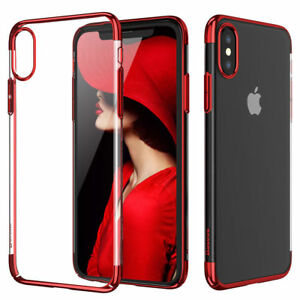 check out bea23 ab480 iPhone X BASEUS Glitter Case Clear Ultra Slim Transparent Hard Cover ...