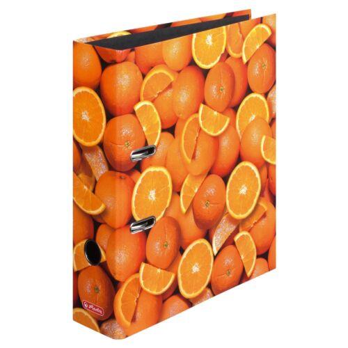 """80mm breit Herlitz Motivordner DIN A4 /""""Orange/"""""""