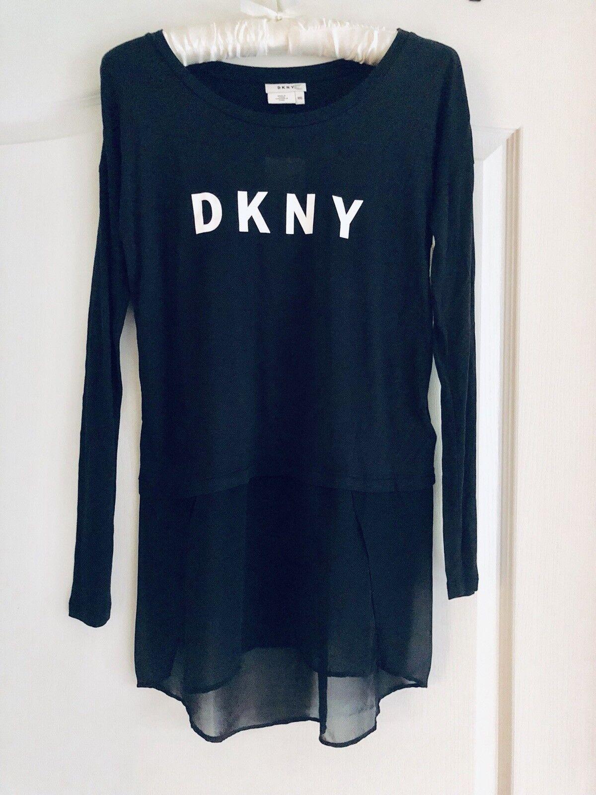 DKNY long sleeve hi low top XXS. NWT