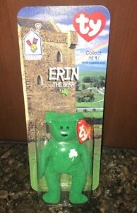 c4f06d2989c NIB McDonalds Happy Meal Toy TY Teenie Beanie Babies Erin The Bear ...