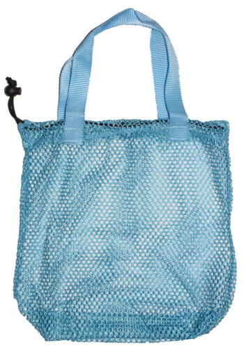 12 Inch Mesh Shell Collection Bag With Drawstring Closure
