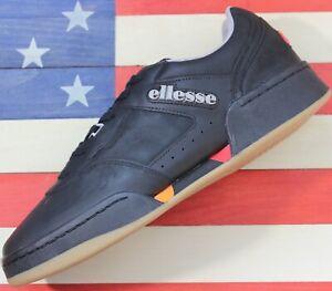 Ellesse-Piacentino-2-0-Men-039-s-Leather-AM-Tennis-Shoes-Black-Orange-Red-6-10307